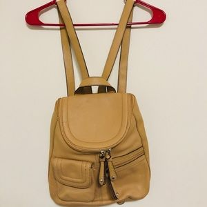 TIGNANELLO  Pebble Leather Backpack Pocket Purse